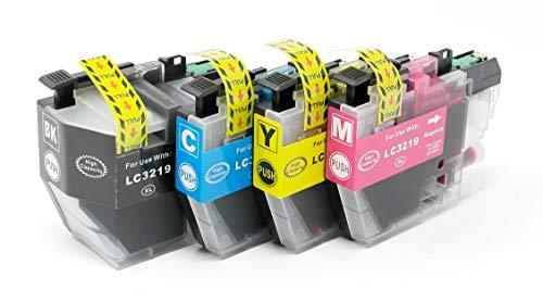 OBV4x kompatible Tintenpatrone als Ersatz für Brother LC3217 LC3219XL für MFC J5330DW J5335DW J5730DW J5830DW J5930DW J6530DW J6535DW J6730DW J6930DW J6935DW schwarz Cyan Magenta gelb