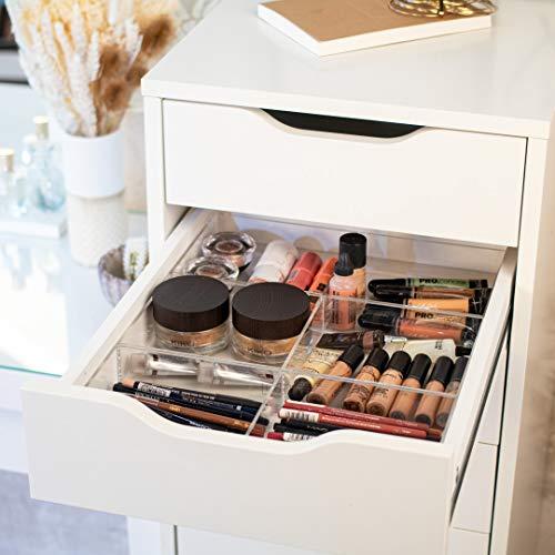 TidyUps Double Tray | Makeup-Organizer passend für IKEA Alex 5 oder 9 | Für Kosmetik & Tools