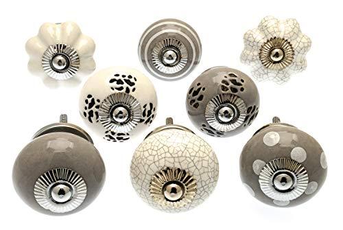 Set van 10 x De Tijd Keramische Deurknoppen Vintage Shabby Chic Antieke Kast Deurgrepen