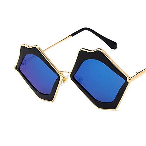 YLNJYJ Sonnenbrillen Stylish Go A Show Lip Shape Sonnenbrillen Persönlichkeit Big Mouth Sonnenbrillen Ma'Am Fashion Damen Eyewear Uv400 Shades