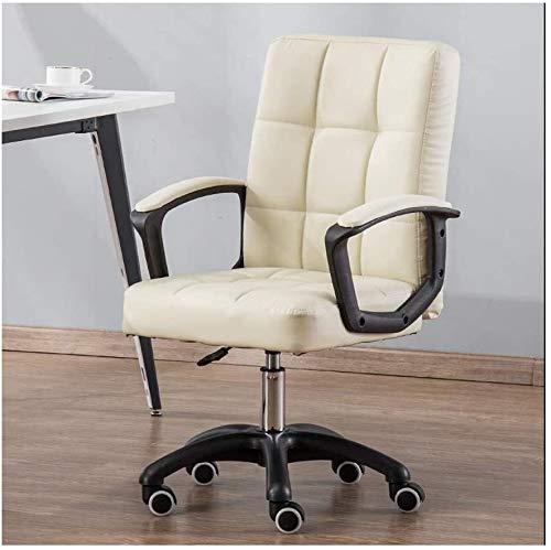 Rollsnownow Bürostuhl High Back Computer Stuhl Ergonomischer Bürostuhl, PU-Leder Einstellbare Höhe Moderner Chefdreh Aufgaben-Stuhl mit gepolsterten Armlehnen und Lendenwirbelstütze Sessel