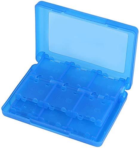GJJSZ Caja de Almacenamiento de Cartucho de Soporte de Tarjeta de Memoria de Videojuegos de plástico PP 28 en 1 para Nintendo 3DS DSL DSI LL (Negro)