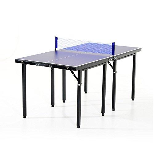 Mesa Ping Pong Plegable 153x76.5x67cm + Red Tenis Mesa Exterior Portatil