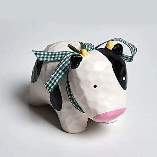 JKCKHA Decoraciones del Arte del Arte de la Vaca Hucha de cerámica de decoración Hijos Hucha Regalo a casa de la Sala de Estar