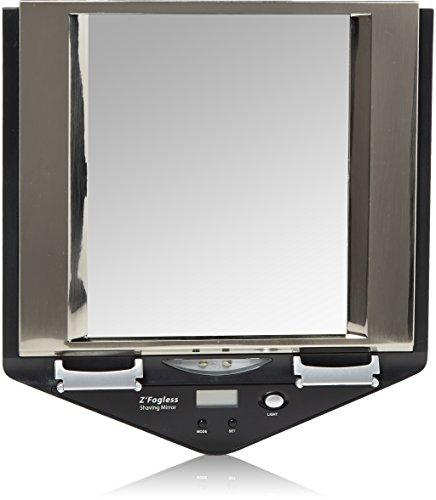 Zadro Fogless LED Lighted Fog Free Shower Mirror LCD Clock