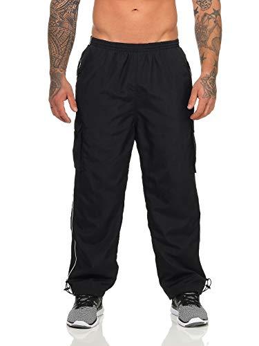ZARMEXX Herren Jogginghose Trainingshose Sporthose Thermo Freizeithose Jogger Sportswear warm gefüttert schwarz XL