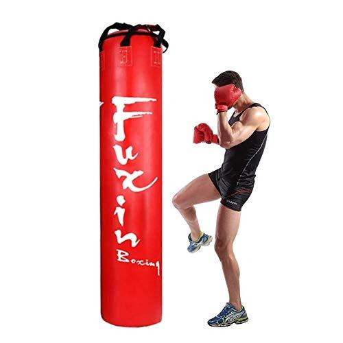 JINDEN Sacos de Boxeo, Bolsa de Boxeo for Trabajo Pesado Cuerpo Kickboxing Uppercut Formación punzonado MMA (Color : Red)