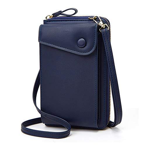Handytasche zum Umhängen,Aeeque Handy Umhängetasche Damen,Handytasche mit Geldbörse Leder für Reise/Einkaufen/Party,Handy Tasche Crossbody kompatibel mit Huawei P30 Lite P30 Pro Y6 P40 Lite - Blau