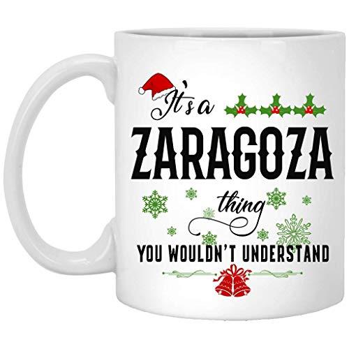 Taza de Navidad para Zaragoza - Es una cosa de Zaragoza que no entenderías - Taza de café de cerámica blanca