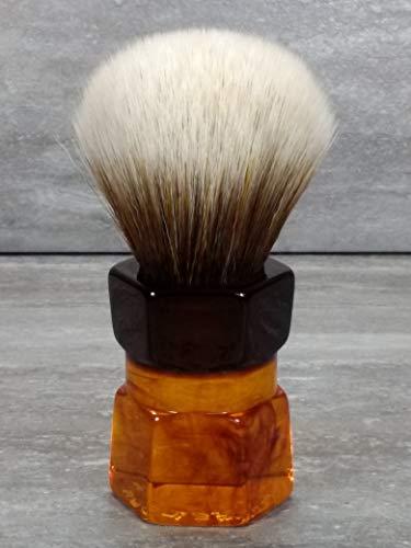 Yaqi 24mm Moka Express Mew Brown Rasierpinsel aus synthetischem Haar R1737-24