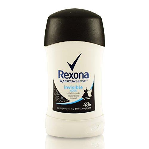 5Pack Rexona Invisible Aqua Reise-Deo Stick 5x 40ml