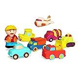 JUNSHEN Juguetes para vehículos de baño (8 PCS),Juguetes flotantes de baño Suave para bebés Bañera Aprendizaje Baño Coche Juguetes y Juguetes para Camiones de bañera para niños pequeños