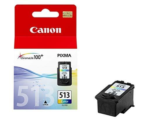 Canon CL-513 Cartucho de Tinta Original Tricolor para Impresora de Inyeccion de Tinta Pixma + PG-510 Cartucho de Tinta Original Negro para Impresora de Inyeccion de Tinta Pixma