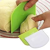 dfgh Juego de 2 espátulas de plástico de 12 x 9,5 cm para herramientas de repostería, espátula de crema para pan, nata, mantequilla, pasta y masa.