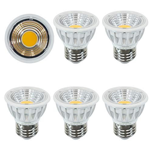 Aiwode 5.5W LED電球 E26口金 電球色2700K 絶縁材料本体 ハロゲン電球50-60W形相当圧倒的の演色性Ra95 長寿命JDR50の代替品 非調光 広配光タイプ90度LEDスポットライト、明るさ550lm 、5個セット。