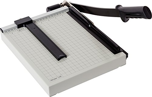 """Dahle 12e Vantage Paper Trimmer, 12"""" Cut Length, 15 Sheet, Automatic Clamp, Adjustable Guide, Metal Base with 1/2"""" Gridlines, Guillotine Paper Cutter"""