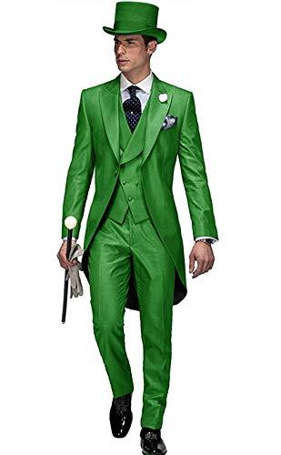 FRANK Herren Hübscher 3-teiliger Frack-Anzug-Set-Business-Anzug für Herren, formelle Hochzeitskleidung 2019