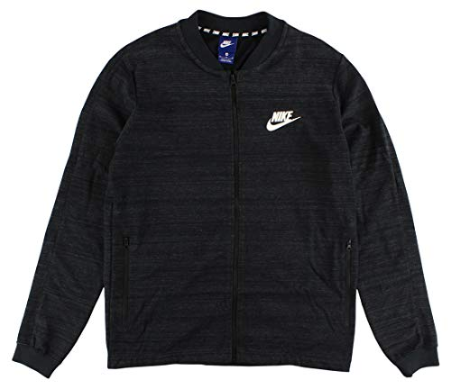 Nike Mens Sportswear Advance AV15 Knit Jacket Black Heather/White 837008-010 Size Medium