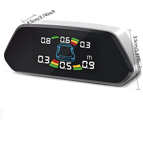 WZQ High-end Stylish car reversing Radar, with LCD Digital Display, high-Definition Color Screen, Real-time Voice Report Distance, Safe and Convenient