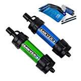 Sawyer Products SP2101 MINI Water Filtration System, 2-Pack, Blue and...