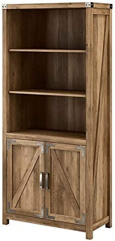 Cottage Grove 5 Shelf Bombing free shipping Bookcase with Gifts Reclaimed Pine - in En Doors