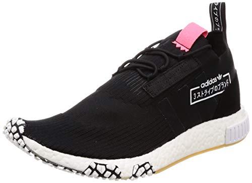 adidas NMD_Racer PK, Zapatillas de Deporte para Hombre, Negro (Negbás/Negbás/Rojdes 000), 40 EU