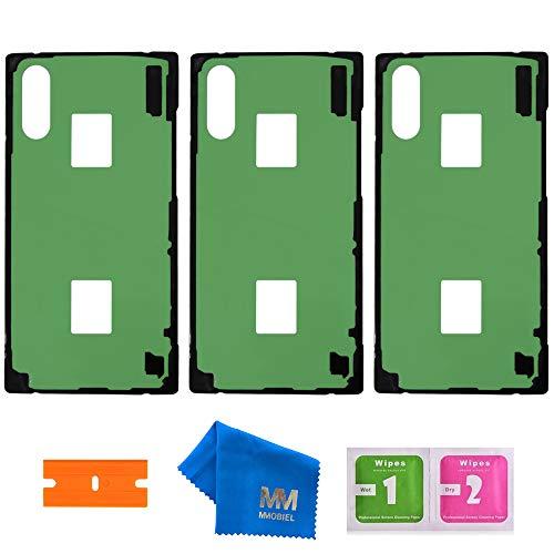 MMOBIEL 3X Pegatina Adhesiva para Cubierta Trasera para batería Compatible con Samsung Galaxy Note 10 Plus N975F / Note 10 Plus 5G N976F 2019-6.8 Inch Incl. Herramientas