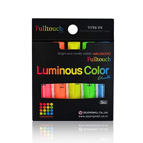 HAGOROMO Fulltouch Luminous Chalk 1 Box [5 Color Mix/5 Pcs]