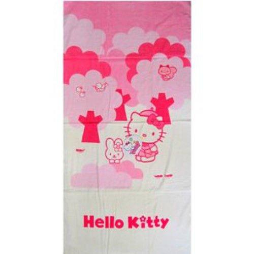Hello Kitty Duschtuch Forest Handtuch Strandtuch Kinder Badetuch 140x70cm