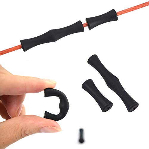 YLA Archery Finger Saver Shooting Hunting Bow Strings Protect Finger Guards BLACK with Installing Tool