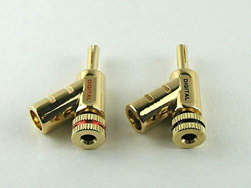 MG-Mバナナプラグジョイント連結可能24K金メッキゴールドレッド&ブラック2個セット