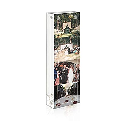 NIUBEE Acrylic Photo Picture Frame Desk