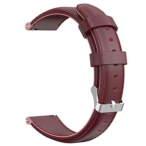 iplusmile Uhrenarmband - Uhrenarmbänder Leder Uhrenarmband Unisex-Armband Uhr Ersetzt Armband Verstellbares Armband für Fossile Gen 4 (Rotwein 22 Mm)