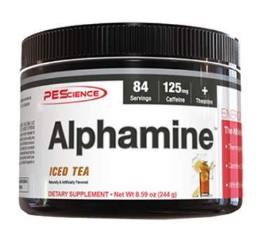 PEScience Alphamine Pre-Workout Energy Powder Ausdauer Leistung Diät Fitness Bodybuilding 244g (Fruit Punch - Fruchtmix)