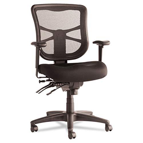 Alera EL42ME10B Alera Elusion Series Mesh Mid-Back Multifunction Chair, Black