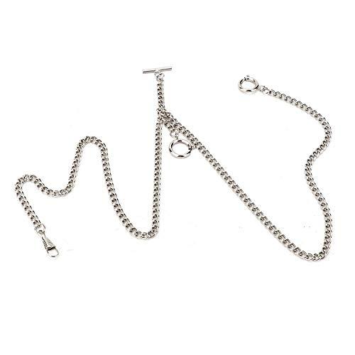 【𝐁𝐥𝐚𝐜𝐤 𝐅𝐫𝐢𝐝𝐚𝒚 𝐃𝐞𝐚𝐥𝐬】 Taschenuhrenkette, Classic Retro 44cm Metall Taschenuhrenkette Link Classic Antik Geschenk für Uhrenhalter Gürtel Tasche Dekoration(#1)