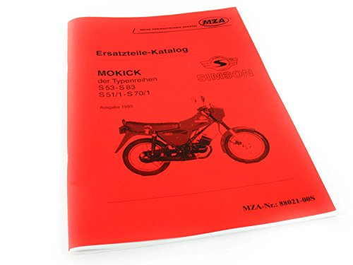 MZA Buch - Ersatzteilkatalog Simson Mokick S53-S83, S51/1-S70/1, Ausg.1993