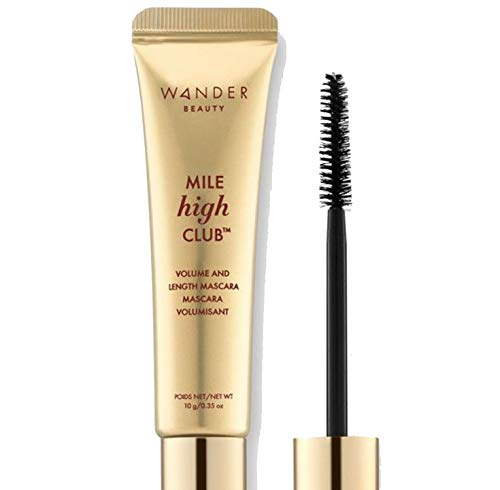 Mascara Black Volume and Length - WANDER BEAUTY MILE HIGH CLUB Black Mascara: Volumizing & Lengthening Mascara - Mascara for Sensitive Eyes, Cruelty Free Mascara, Volume and Length Long Lash Mascara