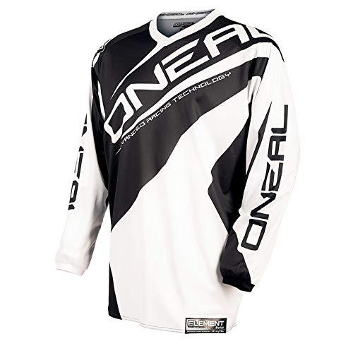 O'Neal Motocross Shirt Jersey Trikot Element Racewear weiß schwarz
