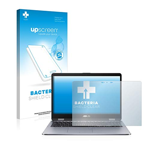 upscreen Antibakterielle Schutzfolie kompatibel mit Asus VivoBook Flip 15 TP510UQ klare Bildschirmschutz-Folie