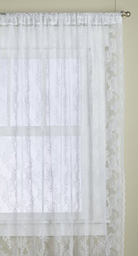 Lorraine Home Fashions Monaco Super Wide Tailored Window Panel, 120 by 84-Inch, Snow White, Set of 2