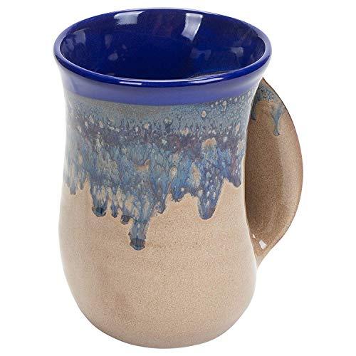 Clay in Motion Handwarmer Mug (Right Hand, Cobalt Canyon)