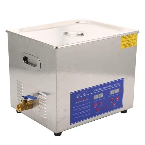 Máquina de limpieza de joyas, limpiador ultrasónico de Digitaces 10L para el hogar para limpiar el hardware