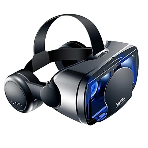 3D VR Auricolare Virtual Realty Gaming Game Glasss Goggles 3D Goggles con auricolari compatibili con iPhone Android 5 a 7 pollici Telefoni Nero