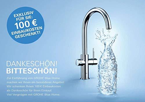 Grohe Blue Home Duo – 2-in-1 Trinkwassersystem und Küchenarmatur (gekühlt, gefiltert, mit Kohlensäure, C-Auslauf) 31455000 - 3