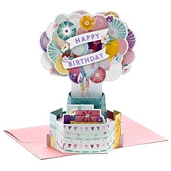 Hallmark Paper Wonder Pop Up Birthday Card for Women  Flower Balloons