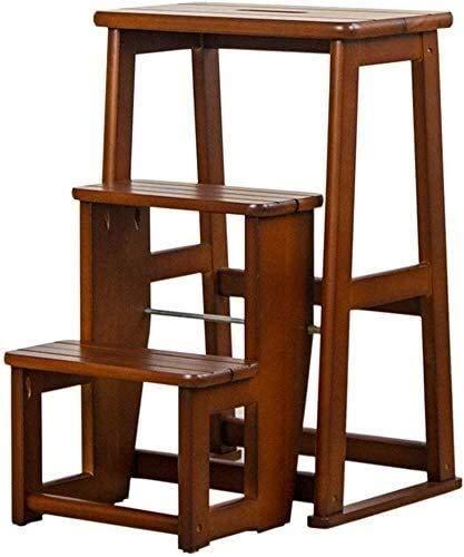 Silla de la casa del adulto escalera plegable Taburete, 3-Escalera plegable del asiento, estante del zapato, estante de la flor, la cocina de la escalera de los asientos, Estante de almacenamiento, po
