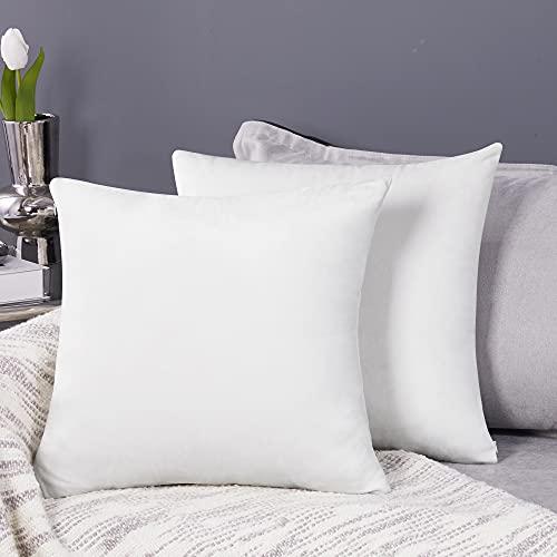 Deconovo Fundas para Cojines de Almohada del Sofá Cubierta Suave Decorativa Protector para Hogar 2 Piezas 50 x 50 cm Blanco