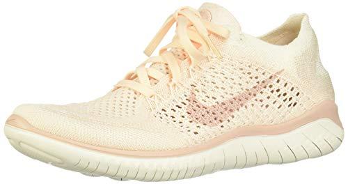 Nike Damen Free RN Flyknit 2018 Laufschuhe, Mehrfarbig (Guava Ice/Particle Beige-Sail-Rust Pink 802), 36.5 EU