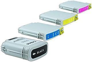 Reciclado para 0 tintas conjunto negro, cian, Magenta, amarillo - Nr.10 / C4844AE - C4841AE - Inhalt: 1 x 72 ml & 3 x 29 ml